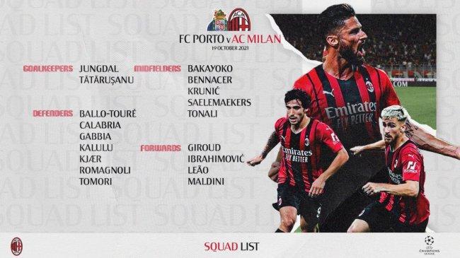 Skuat Compang-camping AC Milan Hadapi Porto di Liga Champions, Rebic Menepi, Tuah Ibra Dinanti