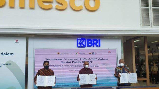 Tiga Kementerian Sepakat Hubungkan Koperasi, UMKM dan IKM ke Rantai Pasok Global