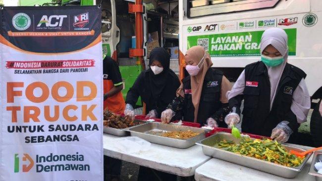 ACT Sragen dan Pemkab Sragen Hadirkan Layanan Makan Gratis, Dukungan terhadap Program Vaksinasi