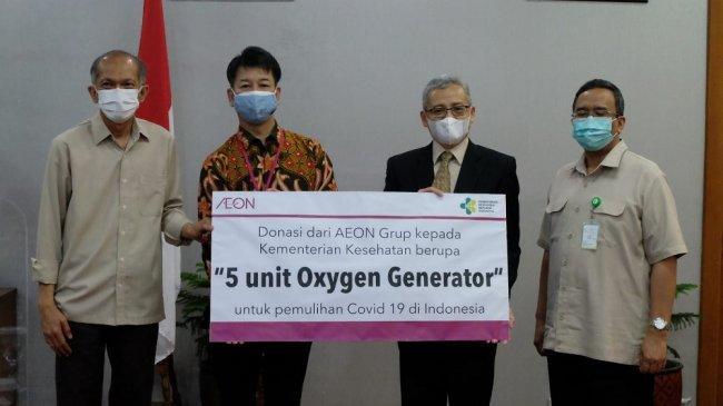 AEON Group Donasikan 5 Unit Oxygen Generator ke Lima Rumah Sakit di Indonesia