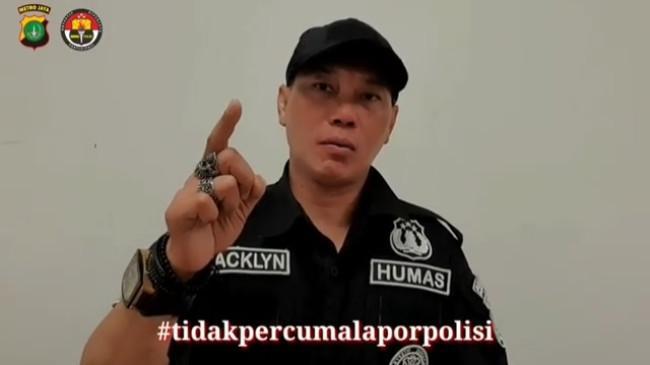Gagah Berseragam Humas Polda Metro Jaya, Begini Gaya Baru Aiptu Jakaria alias Jacklyn Choppers