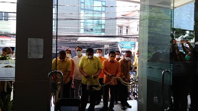 Airlangga Hartarto Resmikan Gedung Baru Ormas MKGR, Bakal Markas Pemenangan Golkar di Pemilu 2024
