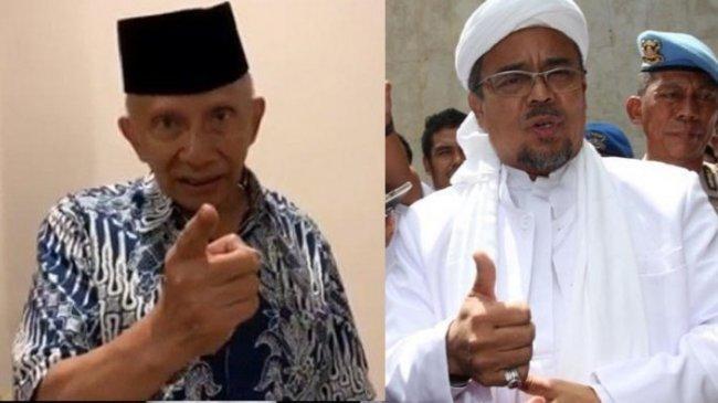 Rizieq Shihab Tuding Amien Rais Blunder Soal TNI-Polri Tak Terlibat Tewasnya Laskar FPI