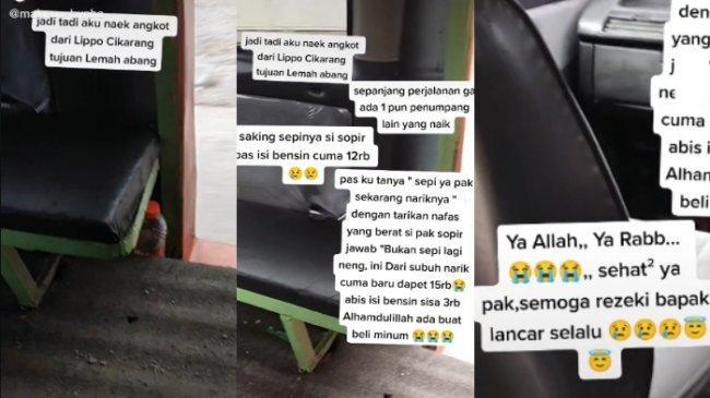 Sudah Kerja sejak Subuh, Sopir Angkot Ini Terpaksa Isi Bensin Rp 12 Ribu karena Sepi Penumpang