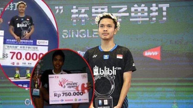 Anthony Ginting Pajang Foto Terima Hadiah Rp 1 Miliar, Ucapan Syukurnya Curi Perhatian Netizen