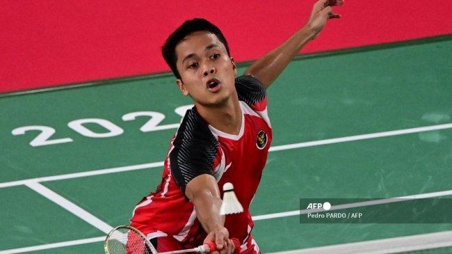 Piala Sudirman 2021, Anthony Sinisuka Ginting Buka Kemenangan Indonesia