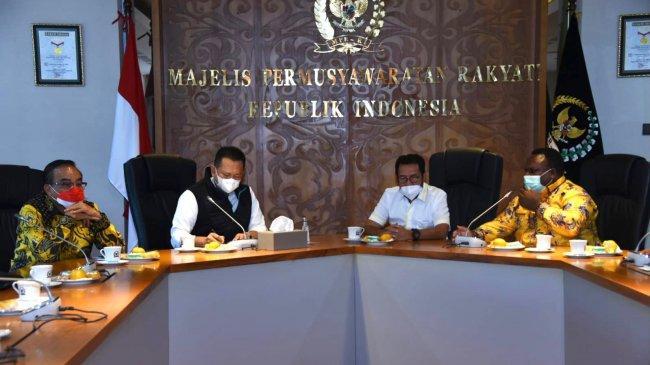 Terima AnggotaDPR Papua Barat,Bamsoet Dorong RPP Pelaksanaan Otsus Papua Barat untuk Kesejahteraan