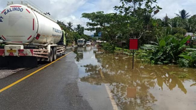 Banjir yang Merendam Dua Desa di Tabalong Kalsel Berangsur Surut