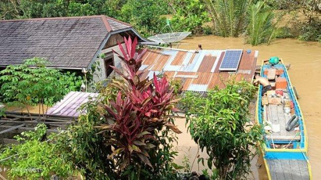 Banjir yang Melanda Sintang Kalimantan Barat di Sepuluh Kecamatan Berangsur Surut