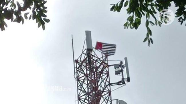 Polda Papua Barat Selidiki Motif Pengibaran Bendera Bintang Kejora di Tower Operator Selular