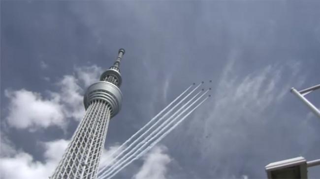 Gladi Resik Pembukaan Paralimpiade, Pasukan Elit Udara Jepang Blue Impulse Kelilingi Kota Tokyo