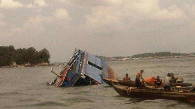 Kapal Boat Milik Warga Sibolga yang Berpenumpang 33 ABK Tenggelam di Perairan Aceh Jaya