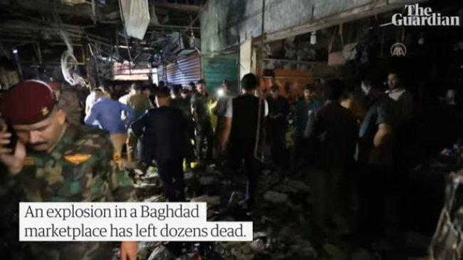 Bom Bunuh Diri Jelang Idul Adha 1442 H di Irak, Meledak di Kawasan Pasar hingga Tewaskan 35 Orang