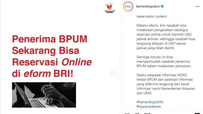 Cairkan Dana BLT UMKM Rp 1,2 Juta Tanpa Perlu Antre di BRI, Akses eform.bri.co.id/bpum