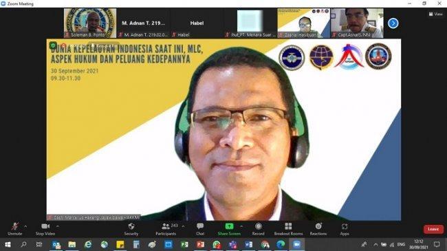 CAAIP Gelar Webinar, Ungkap Kondisi dan Tantangan Dunia Kepelautan Indonesia Saat Ini
