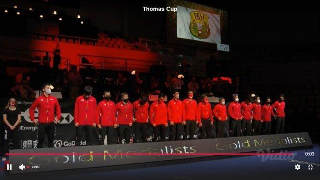 Indonesia Juara Piala Thomas 2021, Lambang PBSI Berkibar Pengganti Bendera Merah Putih