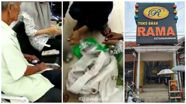 Viral Video Kakek Pengemis Beli Emas Pakai 2 Karung Uang Receh, Sempat Ditolak di Beberapa Toko