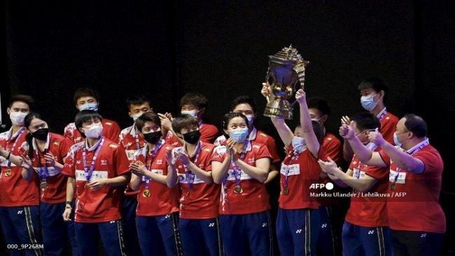 Sorotan Hasil Piala Sudirman 2021 - Kedigdayaan China Kuasai Gelar Juara, Jepang & Indonesia Merana
