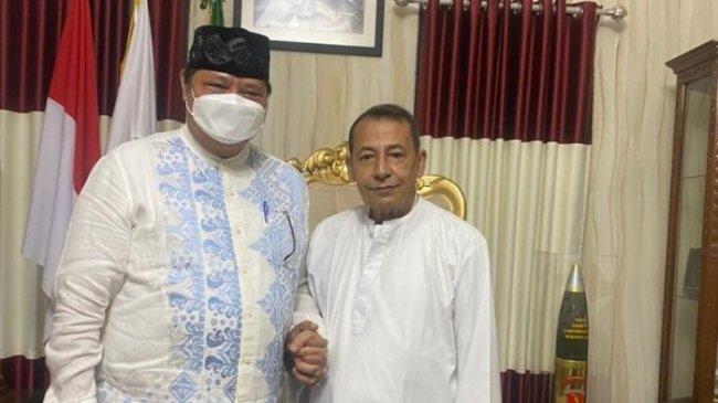 Di Sela-sela Kunjungan ke Pekalongan Airlangga Sowan Habib Lutfi Sebagai Guru Bangsa