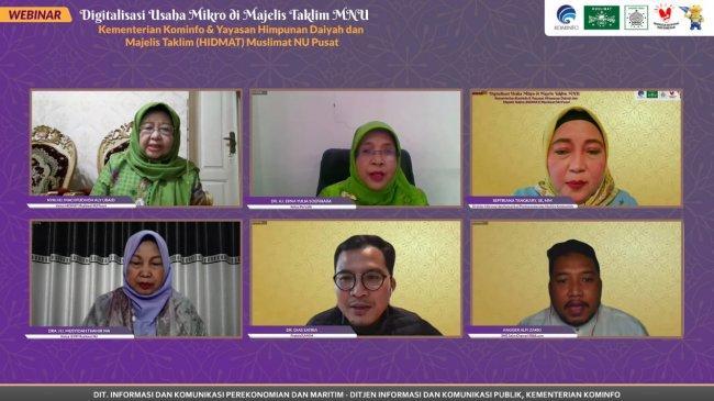 Kominfo Dukung Digitalisasi UMKM di Majelis Taklim MNU