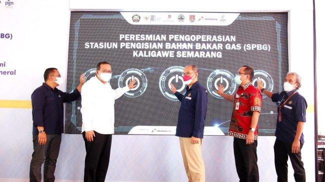 Dorong Transisi Energi, Dirjen Migas Resmikan SPBG Pertamina di Kaligawe Semarang