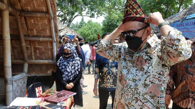 Saat Launching Desa Emas di Lampung, LaNyalla Tegaskan Pentingnya Membangun Desa