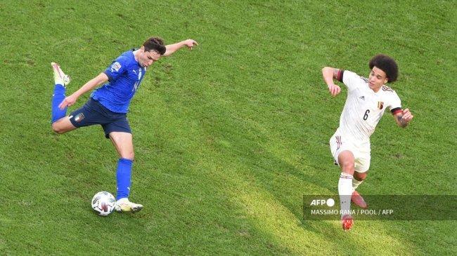 Hasil Italia vs Belgia Babak I UEFA Nations League - Federico Chiesa Mubazir Peluang, Skor 0-0