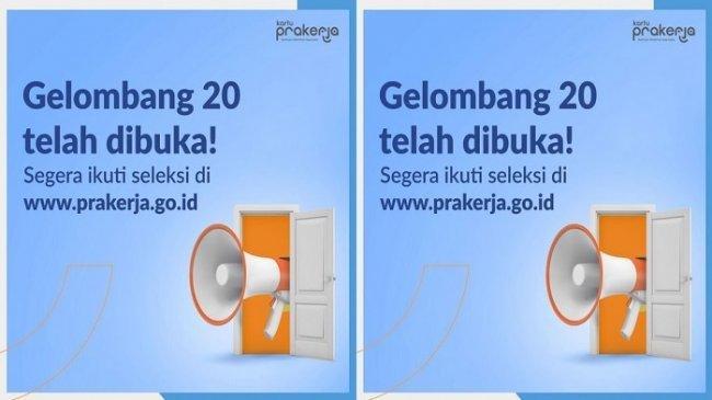 Info Pendaftaran Kartu Prakerja Gelombang 20, Cek di www.prakerja.go.id