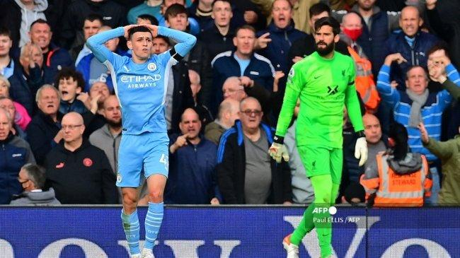 Hasil Babak I Liverpool vs Manchester City Liga Inggris, Peluang Foden Digagalkan Alisson, Skor 0-0