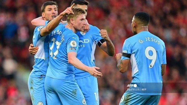 Hasil Liverpool vs Manchester City Liga Inggris, Gol Kevin De Bruyne Paksa The Reds Berbagi Poin