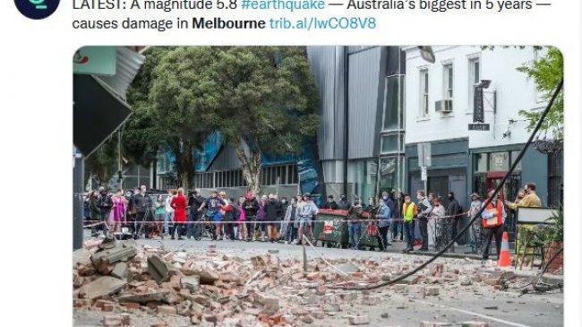 Melbourne Diguncang Gempa, WNI: Benua Australia Sangat Jarang Gempa, Terakhir 1997