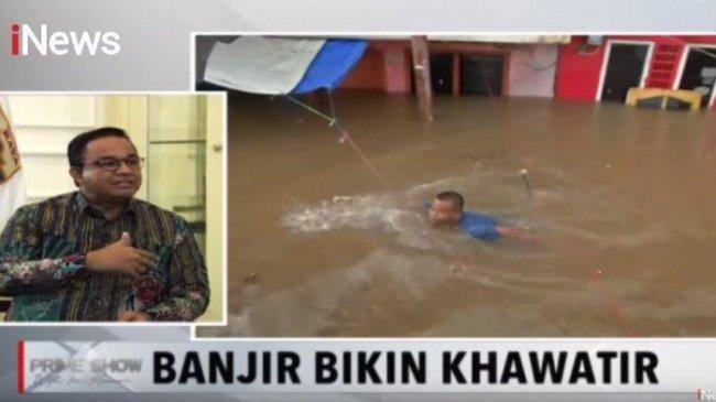 Anies Baswedan Buka-bukaan Terobosan Baru Hadapi Banjir Jakarta: Sebelumnya Tidak Lakukan Itu
