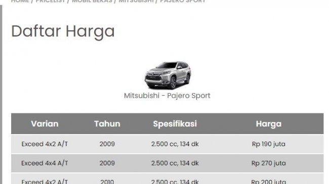 Daftar Harga Mobil Mitsubishi Bekas September 2021: Delica, Maven, Grandis, Pajero, hingga Strada