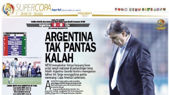 Gerardo Martino: Argentina Tidak Pantas Kalah