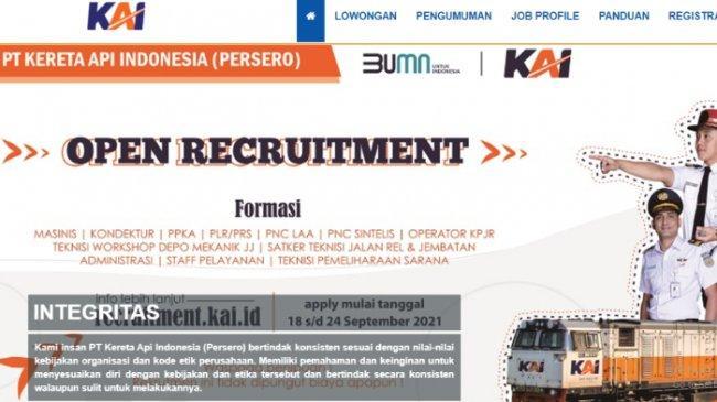 Jadwal Pengumuman Hasil Seleksi Tahap 1 Rekrutmen PT KAI Resmi Diundur, Cek di recruitment.kai.id