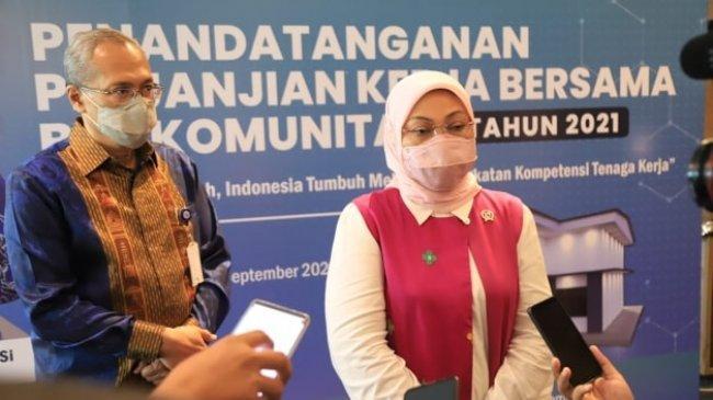 Menaker Teken Perjanjian Kerja Bersama Program BLK Komunitas Tahap II