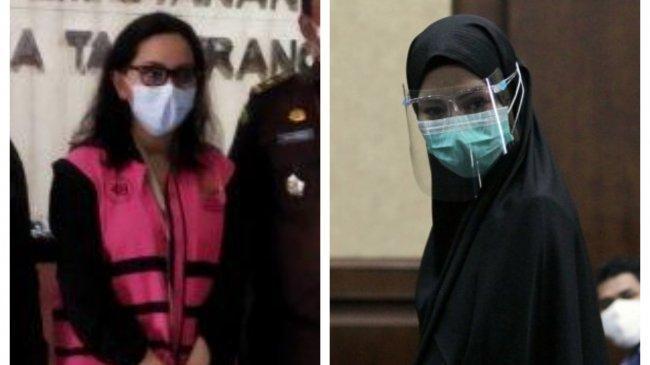 JaksaPinangki Lepas Hijab Saat Dieksekusi ke Lapas Wanita Tangerang