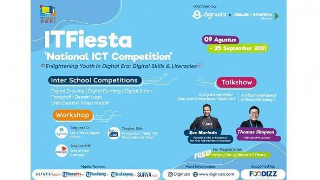 Tingkatkan Literasi Digital, Diginusa dan Asus Indonesia Adakan Kompetisi IT Nasional Antar Sekolah