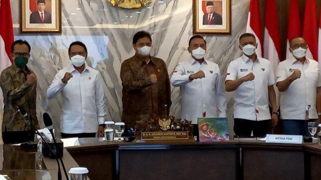 Liga 2 Dapat Izin Digelar di Luar Pulau Jawa, Ketum PSSI Ucapkan Hal Ini ke Airlangga Hartarto