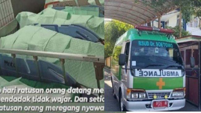 Viral Foto IGD RSUD Dr Soetomo Penuh Jenazah, 27 Meninggal dalam Sehari, Kini Buka Lowongan Relawan