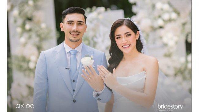 Mengintip Kemewahan Busana dan Cincin Kawin Jessica Iskandar-Vincent Verhaag