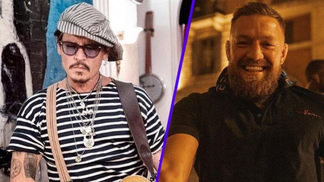 Bertemu di Roma, Conor McGregor dan Keluarga Berfoto Bersama Johnny Depp