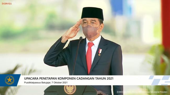 Harus Siaga, Presiden Jokowi: Komponen Cadangan yang Sudah Dilatih kembali ke Profesi Masing-masing