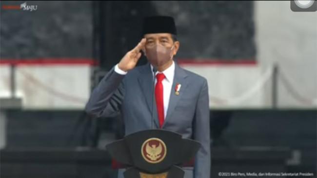 Jokowi Pimpin Upacara Kesaktian Pancasila di Monumen Pancasila Sakti Lubang Buaya
