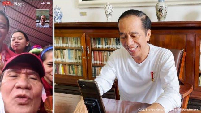 Video Call dengan Atlet Peraih Emas Paralimpiade, Jokowi Sumringah Ungkap Kebanggaan