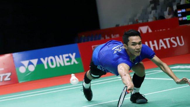 Piala Thomas 2020 - Banyak Salah Sendiri, Jonatan Christie Cepat Tumbang, Indonesia Tertinggal 1-2