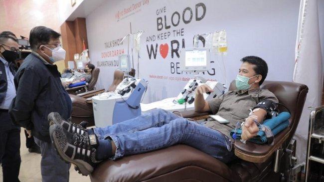Stok Plasma Darah di UDD PMI Jakarta Terbatas, Jusuf Kalla Ajak Para Penyintas Covid-19 Berdonor