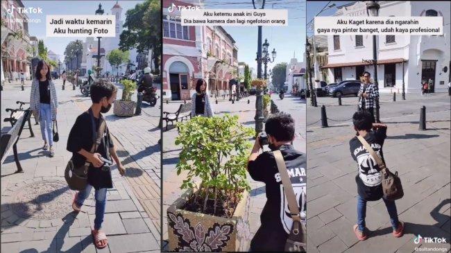 Sosok Kaka, Bocah 13 Tahun Viral yang Sudah 2,5 Tahun Jadi Fotografer Cilik Kota Lama Semarang