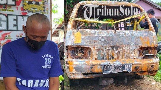 Pria 52 Tahun Bakar Mobil Tetangga Gara-gara Parkir, Pecah Kaca Pakai Cangkul Lalu Siram Spiritus