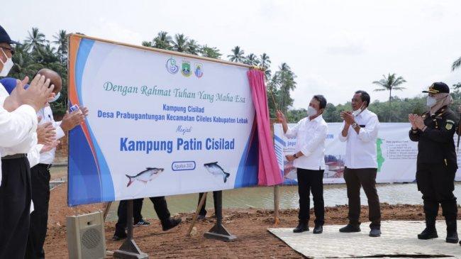 Menteri Trenggono Optimis Kampung Budidaya Cisilad Dongkrak Kesejahteraan Masyarakat Lebak